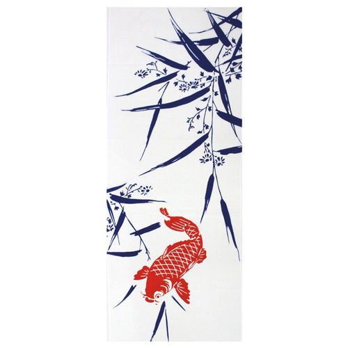 Tenugui-Single-Koi-with-Bamboo